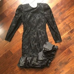 AWESOME 80's Prom Party Dress Gown Vintage